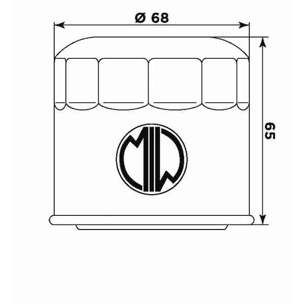 Фільтр масляний MIW S3011 для мототехніки Aprilia, Arctic Cat, Bimota, Cagiva, Kawasaki, Kymco, Suzuki