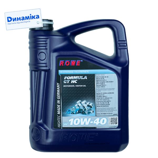 ROWE HIGHTEC FORMULA GT SAE 10W-40 HC