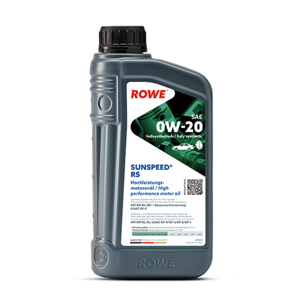 Моторне масло Rowe HIGHTEC SUNSPEED RS SAE 0w-20 1л