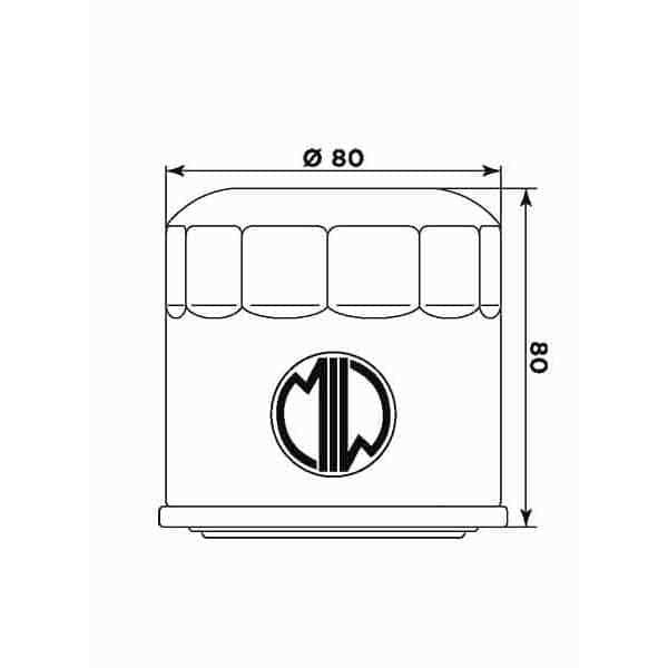 Масляний фільтр MIW H1007